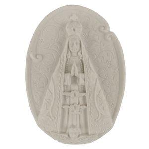 Aplique-Religioso-Oval-Nossa-Senhora-Aparecida-108x78cm---Resina