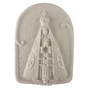 Aplique-Religioso-Oval-Nossa-Senhora-Aparecida-85x6cm---Resina