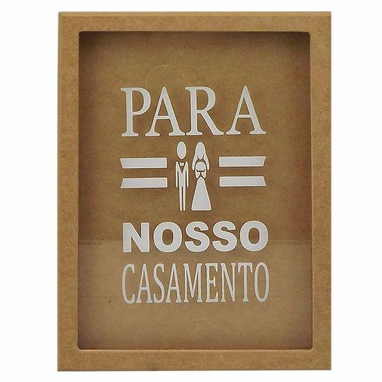Quadro-Cofre-em-MDF-com-Vidro-335x23x37cm-Para-Nosso-Casamento---Palacio-da-Arte