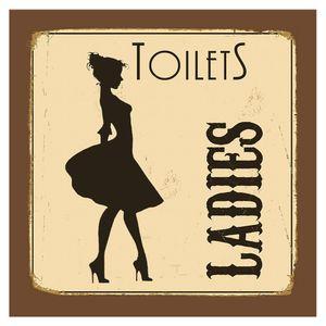Placa-Decorativa-20X20cm-Toilets-Ladies-LPDXX-007---Litocart