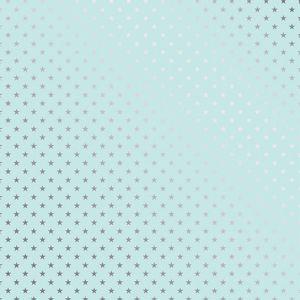 Papel-Scrapbook-Toke-e-Crie-SDF739-Simples-305x305cm-Metalizado-Estrelas-Prateado-Fundo-Azul