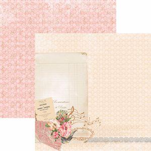 Papel-Scrapbook-Toke-e-Crie-SDF766-Dupla-Face-305x305cm-Floral-Classico-Poesia