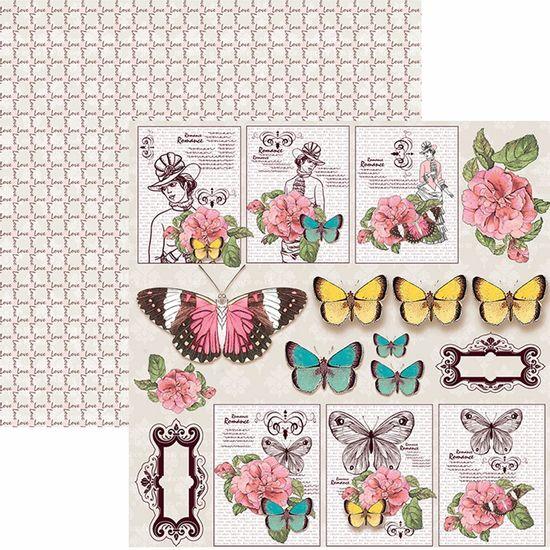 Papel-Scrapbook-Toke-e-Crie-SDF768-Dupla-Face-305x305cm-Borboletas-Tags-e-Recortes