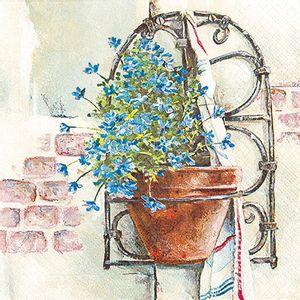 Guardanapo-Decoupage-Toke-e-Crie-GUA211536-2-unidades-Floreira-Azul