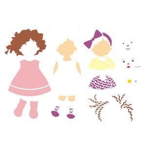 Estencil-OPA2304-Pintura-Simples-32x42-Infantil-Boneca