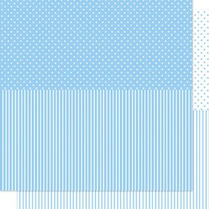Papel-Scrapbook-Litoarte-SD-013-Dupla-Face-305x305cm-Poa-e-Listras-Azul