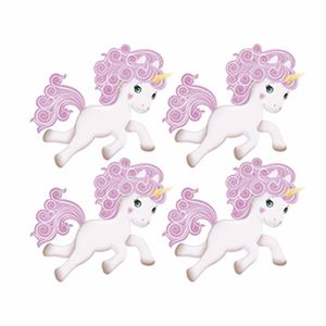 Aplique-Decoupage-Litoarte-APM3-207-em-Papel-e-MDF-3cm-Unicornio-Rosinha