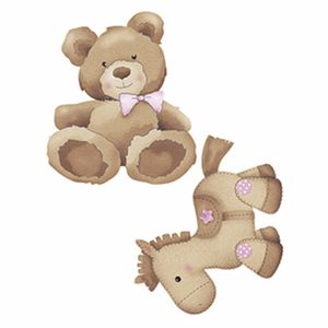Aplique-Decoupage-Litoarte-APM4-278-em-Papel-e-MDF-4cm-Urso-e-Cavalinho