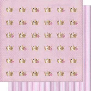 Papel-Scrapbook-Litoarte-SD-603-Dupla-Face-305X305cm-Coroa-Rosas