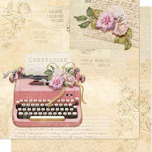 Papel-Scrapbook-Litoarte-SD-610-Dupla-Face-305X305cm-Maquina-de-Escrever-Vintage