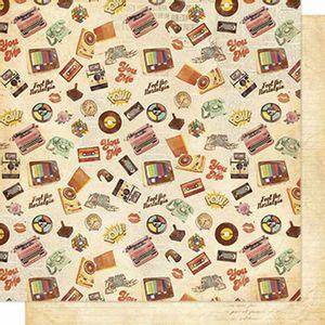 Papel-Scrapbook-Litoarte-SD-611-Dupla-Face-305x305cm-Estampa-Retro