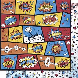 Papel-Scrapbook-Litoarte-SD-616-Dupla-Face-305X305cm-Splash-Pop-Art-e-Strelas