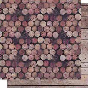 Papel-Scrapbook-Litoarte-SD-618-Dupla-Face-305X305cm-Rolhas-de-Vinho-e-Madeira