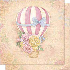 Papel-Scrapbook-Litoarte-SD-634-Dupla-Face-305X305cm-Balao-com-Flores
