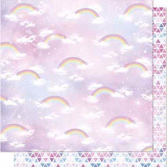 Papel-Scrapbook-Litoarte-SD-654-Dupla-Face-305X305cm-Arco-Iris-e-Nuvens