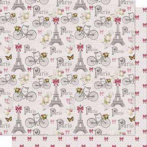 Papel-Scrapbook-Litoarte-SD-656-Dupla-Face-305X305cm-Torre-Eifel-e-Lacos
