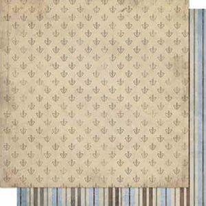Papel-Scrapbook-Litoarte-SD-669-Dupla-Face-305X305cm-Flor-de-Lis-e-Listras