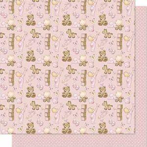 Papel-Scrapbook-Litoarte-SD-681-Dupla-Face-305X305cm-Bebe-Menina-e-Urso
