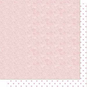 Papel-Scrapbook-Litoarte-SD-683-Dupla-Face-305X305cm-Arabesco-e-Poa-Rosa