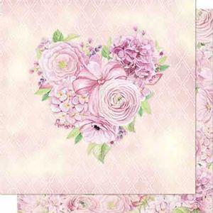 Papel-Scrapbook-Litoarte-SD-684-Dupla-Face-305X305cm-Coracao-de-Rosas