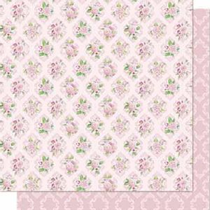 Papel-Scrapbook-Litoarte-SD-688-Dupla-Face-305X305cm-Flores-e-Arabesco