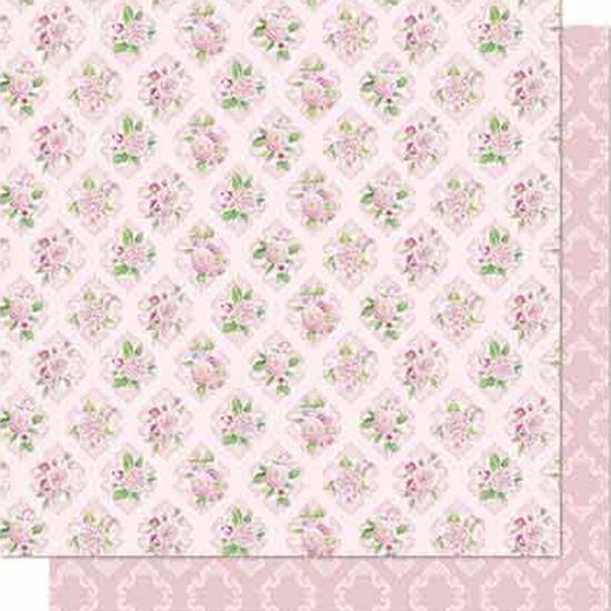 Papel-Scrapbook-Litoarte-SD-688-Dupla-Face-305X305cm-Flores-e-Arabesco