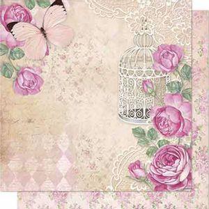 Papel-Scrapbook-Litoarte-SD-690-Dupla-Face-305X305cm-Rosas-Vintage