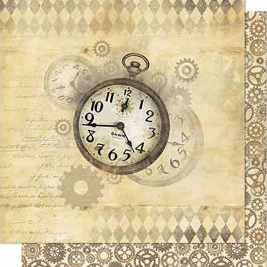 Papel-Scrapbook-Litoarte-SD-702-Dupla-Face-305X305cm-Relogios