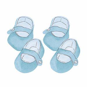 Aplique-Decoupage-Litoarte-APM4-281-em-Papel-e-MDF-4cm-Sapatinho-Bebe-Azul