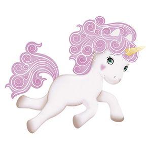 Aplique-Decoupage-Litoarte-APM8-808-em-Papel-e-MDF-8cm-Unicornio-Branco-com-Crina-Rosa