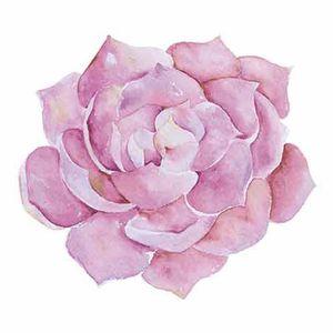 Aplique-Decoupage-Litoarte-APM8-834-em-Papel-e-MDF-8cm-Suculenta-Rosa