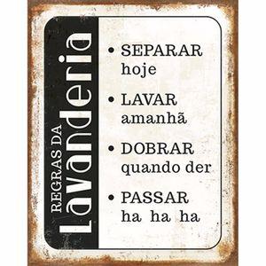 Placa-Decorativa-Litoarte-DHPM-246-24x19cm-Regras-da-Lavanderia