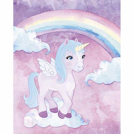 Placa-Decorativa-Litoarte-DHPM-256-24x19cm-Unicornio-com-Asa-e-Nuvens