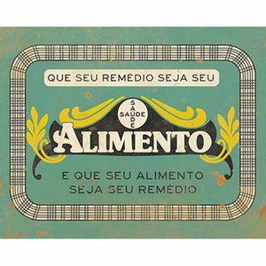 Placa-Decorativa-Litoarte-DHPM-276-24x19cm-Que-seu-Remedio-Seja-seu-Alimento