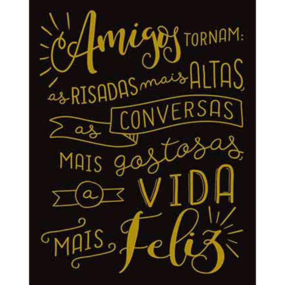 Placa Decorativa Lousa Litoarte Dhpm 302 24x19cm Amigos Tornam As  ~ Frases De Limpeza Na Cozinha