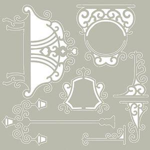 Scrap-Embelezadores-Cardboard-Litoarte-SCEP-027-Aplique-Elementos-Praca