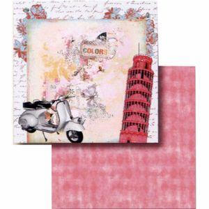 Papel-Scrapbook-Litocart-LSCD-405-Dupla-Face-305x305cm-Torre-de-Pisa