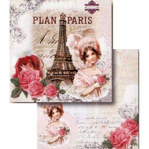 Papel-Scrapbook-Litocart-LSCD-407-Dupla-Face-305x305cm-Paris-Madame-e-Rosas