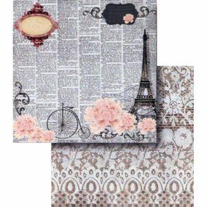Papel-Scrapbook-Litocart-LSCD-408-Dupla-Face-305x305cm-Escritas-e-Torre-Eiffel