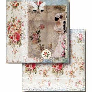 Papel-Scrapbook-Litocart-LSCD-410-Dupla-Face-305x305cm-Dama-e-Rosas