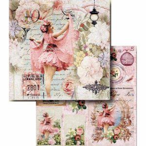 Papel-Scrapbook-Litocart-LSCD-411-Dupla-Face-305x305cm-Mulher-Vintage