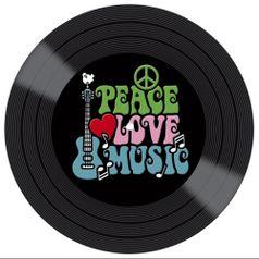 Placa-Decorativa-Litocart-LPDVP-005-20x20cm-Disco-Vinil-Peace-Love-Music