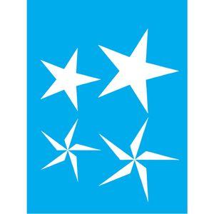 Stencil-Litocart-LSM-068-20x15cm-Pintura-Simples-Estrelas