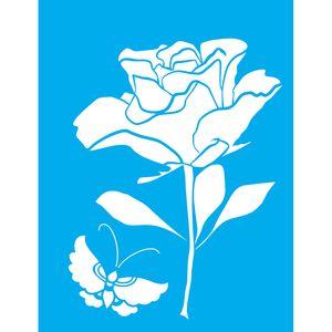 Stencil-Litocart-LSM-079-20x15cm-Pintura-Simples-Rosa-e-Borboleta