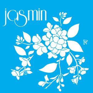 Stencil-Litocart-LSQ-105-20x20cm-Pintura-Simples-Flor-Jasmim