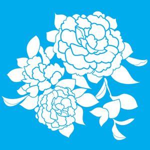 Stencil-Litocart-LSQ-107-20x20cm-Pintura-Simples-Flor-Camelia