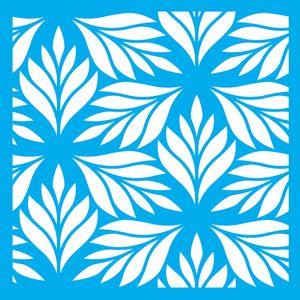 Stencil-Litocart-LSQ-079-20x20cm-Pintura-Simples-Estampa-Folhas