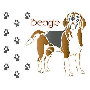Stencil-Litoarte-STM-504-211X172cm-Pintura-Simples-Cachorro-Beagle