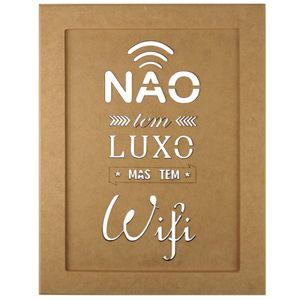 Quadro-Moldura-em-MDF-Retangular-345x255cm-Nao-Tem-Luxo-Mas-Tem-Wifi---Palacio-da-Arte