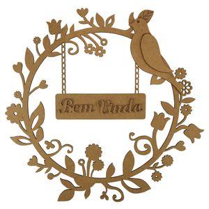Mandala-Floresta-Bem-Vindo-em-MDF-25x25cm---Palacio-da-Arte